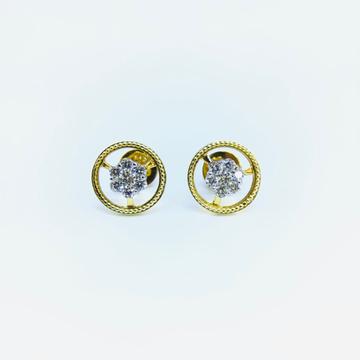 BRANDED FANCY REAL DIAMOND EARRINGS by