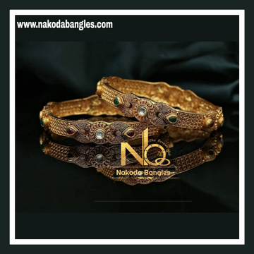 916 Gold Antique Bangles NB - 732