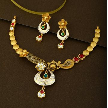 22KT Gold Hallmark Jadtar Necklace Set