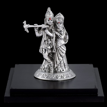 92.5 Sterling Silver Radha-krishna Gorgeous Idol