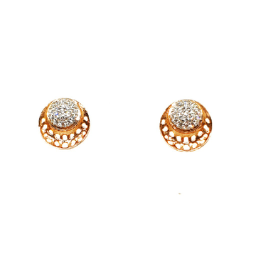 18K Gold Round Shaped Designer Earrings MGA - BTG0287
