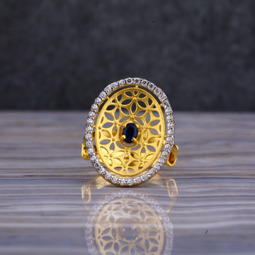 22kt Gold Cz Round Shape Ring LLR114