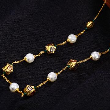 22KT Gold Ladies Exclusive Antique Chain Mala AC18...