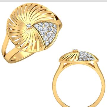 22Kt Yellow Gold Fragrant Ring For Women