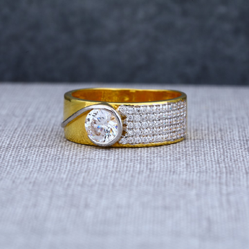 Mens Gold 22ct Fancy Single Stone Gold Ring-MSR15