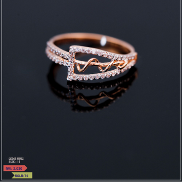 ROSE GOLD LADIES CZ CLASSIC RING