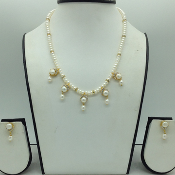 WhiteCz and Pearls 7 PcsSet With 1Line FlatPea...