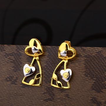 Ladies 22K Gold Casting Designer Earring -LPE177
