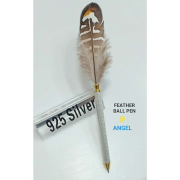 92.5 Sterling  Silver Angle Feather Ball Pen Ms-2355