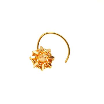 18K Gold Round Shape Nosepin MGA - GN0016