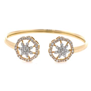 18kt / 750 rose gold flexible diamond bracelet 7brc27