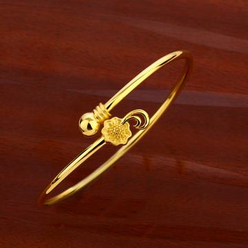 18CT CZ Women's Delicate Hallmark  Kada Bracelet L...
