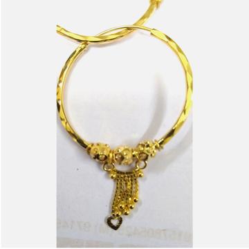 916 Gold Light Weight Latkan Earring by Vipul R Soni