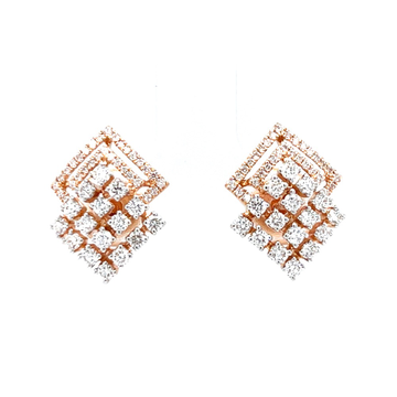 Kite shaped stud in prong setting & micro pave set...