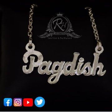 92.5 silver name letterr pendant chain for couple rh-pc217