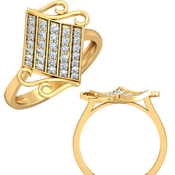 22kt Yellow Gold Helix Lattice Ring For Women