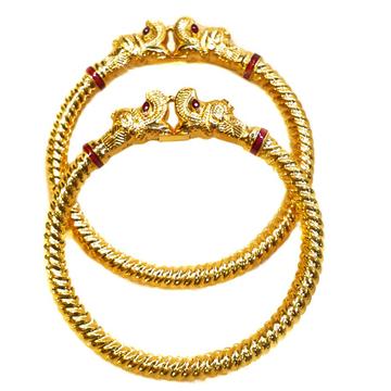 22k Gold Hathimora Copper Kadli Bangles MGA - GK026