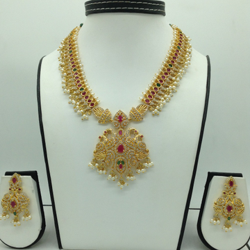 Multicolour CZ Long Necklace Set JNC0125