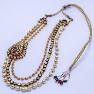 22kt gold jadtar meenakari necklace set with earrings agj-ns-02