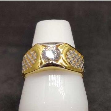 916 gold soliter ring For Men NO-26523