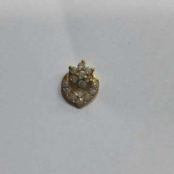 16K Yellow Gold Indian Stone Nosepin
