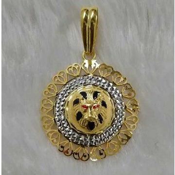 Lion face gold pandant