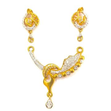 22K GOLD FANCY DAIMOND LADIES MANGALSUTRA PENDANT... by Shreeji Silver Palace