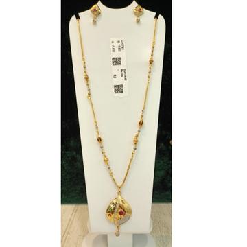 916 Gold Hallmark Kundan Pendant Chain
