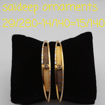 22 kt design copper bangles  design by Saideep Jewels