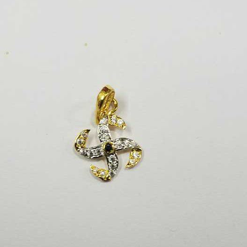 20kt Gold Cz Ladies Pendant