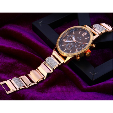 750 Rose Gold Delicate Mens Watch RMW12