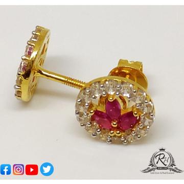 22 carat gold daimond earrings RH-ER562