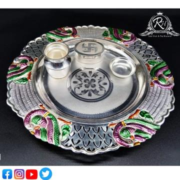 silver fancy pooja set RH-PI614
