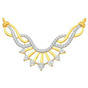 18K Gold Real Diamond Mangalsutra MGA - RMS0012