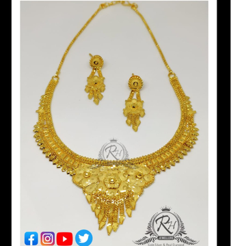 22 carat gold ladies necklace set RH-LN287