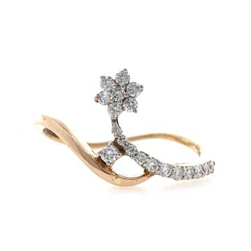 18kt / 750 rose gold Floral classic Diamond Ladies...