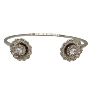 925 Sterling Silver Flower Shape Designer Bracelet...