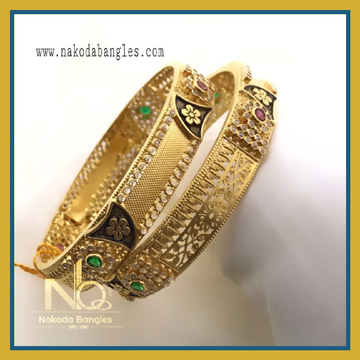 916 Gold Chakari Bangles NB-075