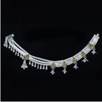 Antique Designer Silver Payal by MSK Jewel Art Private Limited