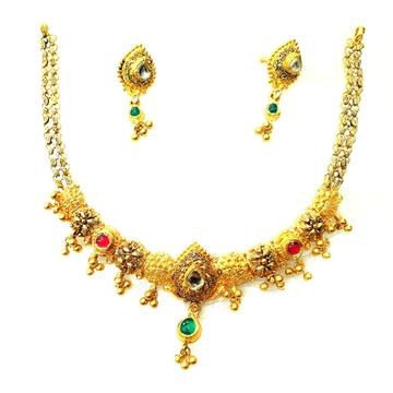 916 gold antique necklace set mga - gn004