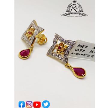 22 carat gold daimond earrings RH-ER360