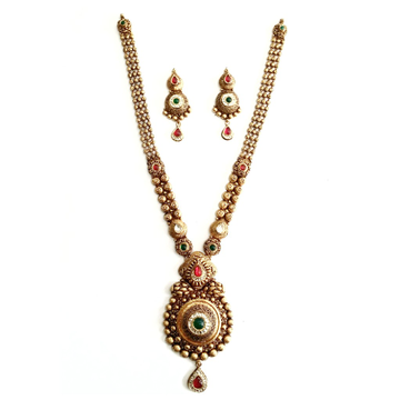 916 Gold Antique Necklace Set MGA - GN028