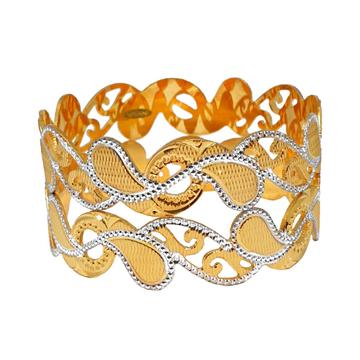 1 Gram Gold Forming Modern Bangles MGA - BGE0469