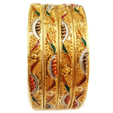 22k 4 piece fancy designer bangle kada mga - gp018