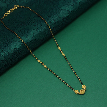 916 Hallmarked 3 Ball Simple Mangalsutra by Simandhar Jewellers