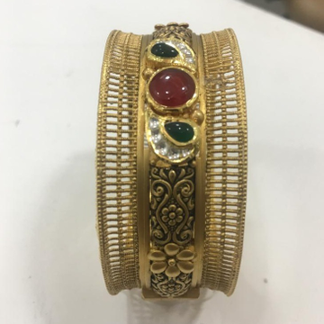 916 Gold Traditional Kada For Wedding KV-B001