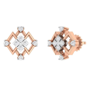 18KT Rose Gold Real diamond Designs For Women