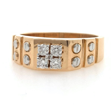 18kt / 750 rose gold contemporary designer gents ring 9gr21