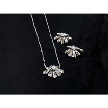 92.5 Sterling Silver Different Look Pendant Set Ms-3854