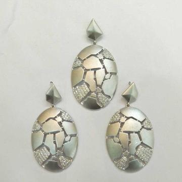 925 Sterling Silver Fancy Pendant Set
